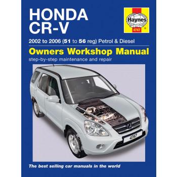 Honda CR-V Petrol & Diesel 02-06) Repair Manual Haynes