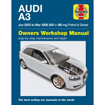 Audi A3 Petrol / Diesel (03-08) Repair Manual Haynes