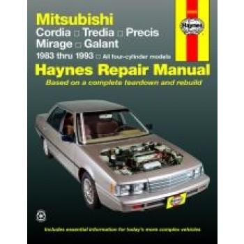 Mitsubishi Cordia (83 - 93) - Repair Manual Haynes
