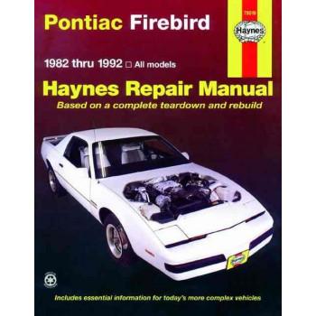 Pontiac Firebird Petrol (82-92) Repair Manual Haynes