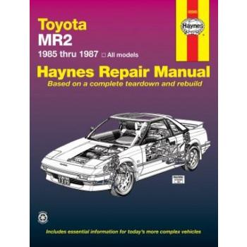 Toyota MR2 (85 - 87) - Repair Manual Haynes