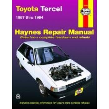 Toyota Tercel (87 - 94) - Repair Manual Haynes