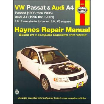 Audi A4 & VW Passat 1,8 Turbo / 2,8 V6 (96-05) Repair Manual Haynes