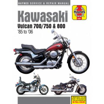 Kawasaki Vulcan 700, 750, 800 (85-04) - Repair Manual Haynes