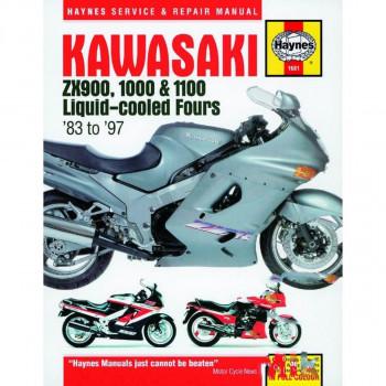 Kawasaki ZX 900 / 1000 / 1100 (83-97) Repair Manual Haynes