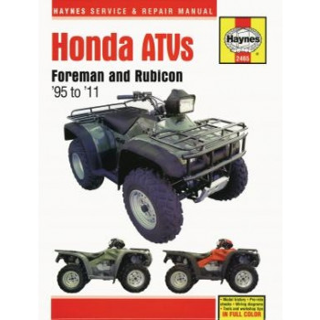 Honda Foreman 400 and 450 ATVs (95 - 02) - Repair Manual Haynes