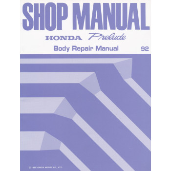 Honda Prelude 1992  - Body Repair Shop Manual