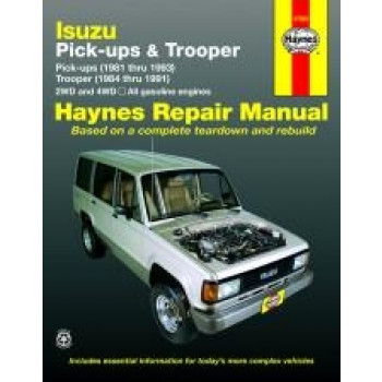 Isuzu Trooper and Pick-up (81 - 93) - Repair Manual Haynes