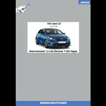 KIA Ceed CD (18-21) Reparaturleitfaden Motormechanik 1,4 Liter Benziner T-GDI Kappa
