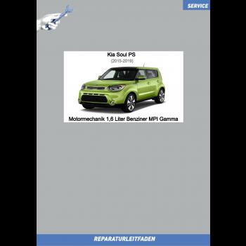 KIA Soul PS (15-19) Reparaturleitfaden Motormechanik 1,6 Liter Benziner MPI Gamma