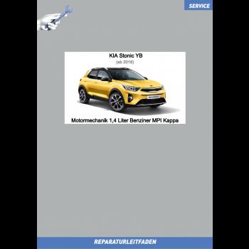 KIA Stonic YB (18 >) Reparaturanleitung Motormechanik 1,4 Liter Benziner MPI Kappa