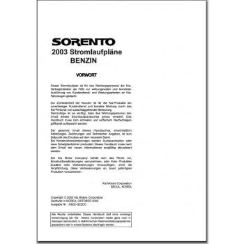 KIA Sorento BL Benziner (2003) Schaltplan Stromlaufplan