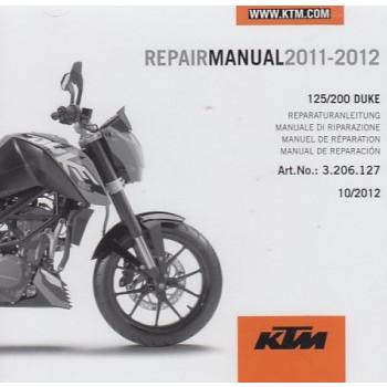 KTM 125 / 200 Duke (2011-2012) - Werkstatthandbuch CD