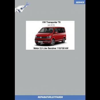 VW Transporter T6 (15-19) Reparaturleitfaden Motor 2,0 Liter Benziner 110/150 kW