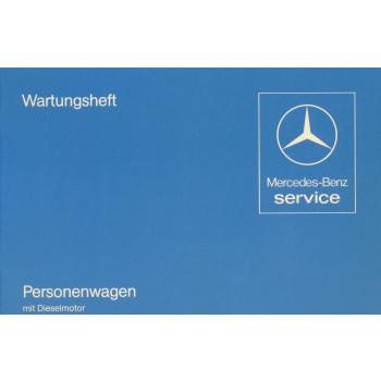 Mercedes Benz W 123 (1982) - Wartungsheft