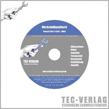 Renault Clio II, Typ B (98-05) - Werkstatthandbuch Reparaturanleitung CD
