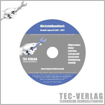 Renault Laguna II, Typ G (01-07) - Werkstatthandbuch Reparaturanleitung CD