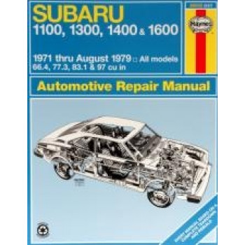 Subaru 1100, 1300, 1400 and 1600 (71 - 79) - Repair Manual Haynes