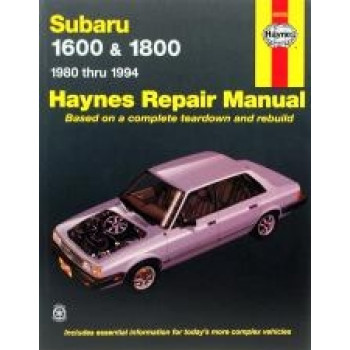 Subaru 1600 and 1800 (80 - 94) - Repair Manual Haynes