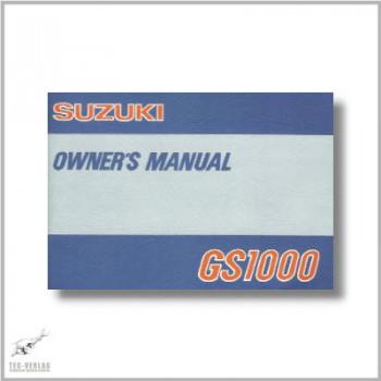 Suzuki GS1000 - Owner`s Manual