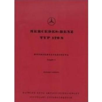 Mercedes Benz W 136, 170 S (46-55) - Betriebsanleitung