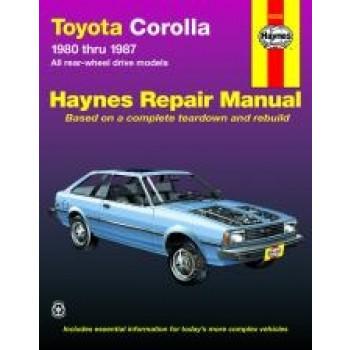 Toyota Corolla Rear-wheel drive (80 - 87) - Repair Manual Haynes