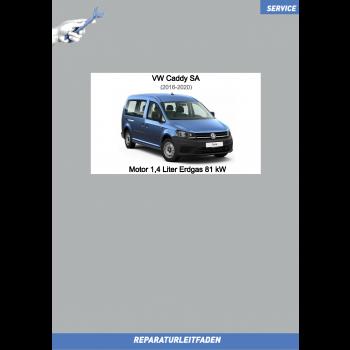 VW Caddy SA (15-20) Reparaturleitfaden Motor 1,4 Liter Erdgas 81 kW