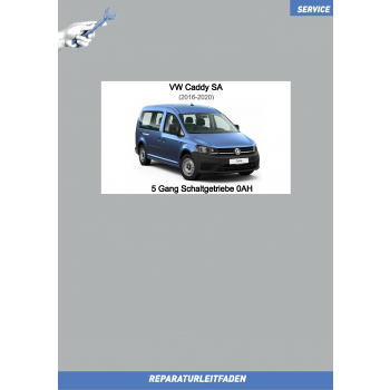 VW Caddy SA (15-20) Reparaturleitfaden 5 Gang Schaltgetriebe 0AH
