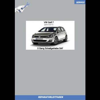 VW Golf 7 (12-17) Reparaturleitfaden 5 Gang Schaltgetriebe 0AF