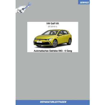 VW Golf 8 (20>) Reparaturleitfaden Automatik Getriebe 09G 6-Gang
