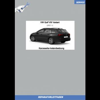 VW Golf 8 Variant (20>) Reparaturleitfaden Karosserie Instandsetzung