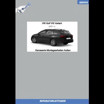 VW Golf 8 Variant (20>) Reparaturleitfaden Karosserie Montagearbeiten Außen