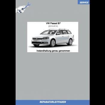 VW Passat B7 (10-14) Reparaturleitfaden Instandhaltung Wartung Service