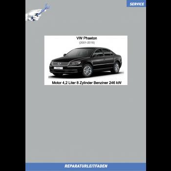 VW Phaeton 3D (01-16) Reparaturleitfaden Motor 4,2 Liter 8 Zylinder Benziner 246 kW