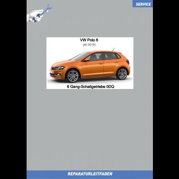 VW Polo 6 (2018 ➤) Reparaturleitfaden 6 Gang Schaltgetriebe 0DQ