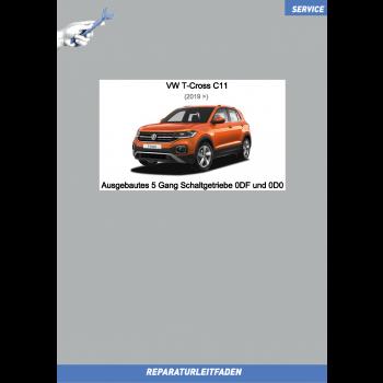VW T-Cross C11 (19>) Reparaturleitfaden 5 Gang Schaltgetriebe 0DF / 0D0 (ausgebaut)