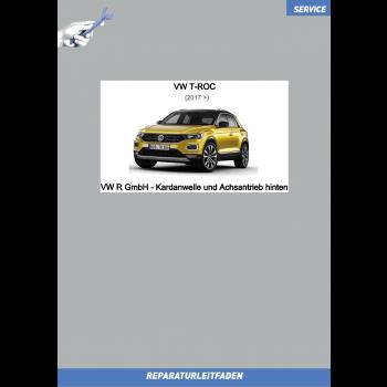 VW T-Roc (17>) VW R GmbH Reparaturleitfaden Kardanwelle und Achsantrieb 0CQ