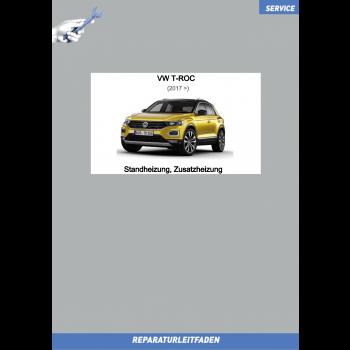 VW T-Roc (17>) Reparaturleitfaden Standheizung, Zusatzheizung