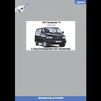 VW Transporter T4 (90-96) Reparaturleitfaden 5 Gang-Schaltgetriebe 02D Allradantrieb