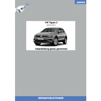 VW Tiguan 2 (16-21) Reparaturleitfaden Instandhaltung Service Inspektion