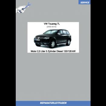 VW Touareg 7L (02-10) Reparaturleitfaden Motor 2,5 Liter 5-Zylinder Diesel 120/128 kW
