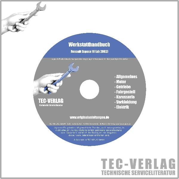 renault espace iv, typ jk (02-10) - werkstatthandbuch